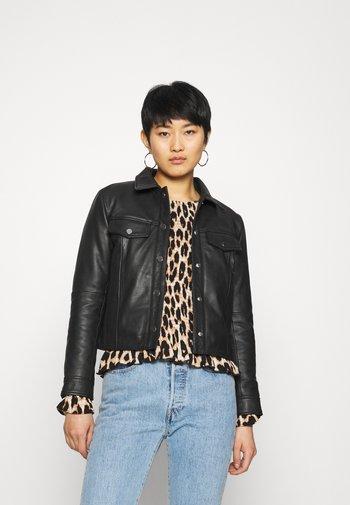 FRANKIE - Leather jacket - black