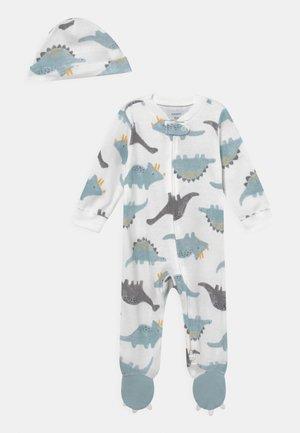 SET - Sleep suit - light blue/off-white