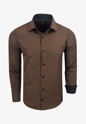 FREIZEIT-HEMD - Shirt - braun