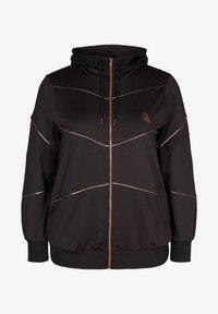 Active by Zizzi - Zip-up hoodie - black - 4