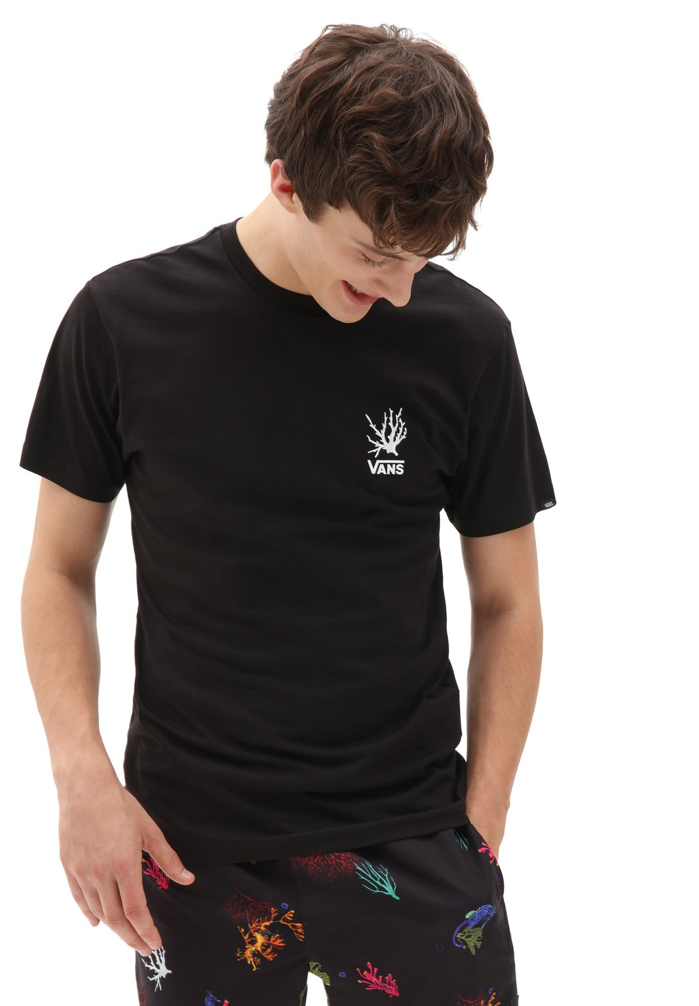 Homme MN REALITY CORAL SS - T-shirt imprimé