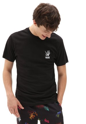 MN REALITY CORAL SS - T-shirt med print - black