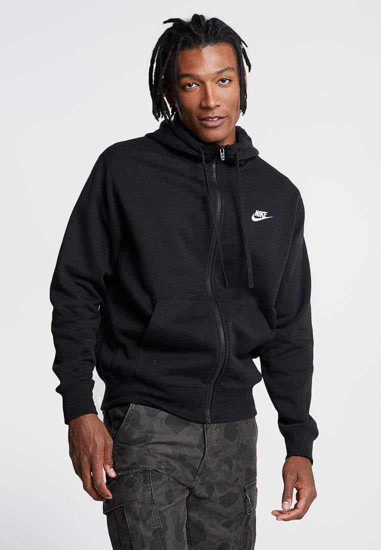 Nike Sportswear - CLUB HOODIE - veste en sweat zippée - black/black/white