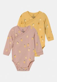 Lindex - WRAP PEAR 2 PACK  - Longsleeve - dusty pink/light dusty yellow - 0