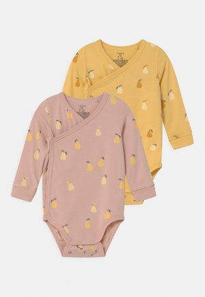 WRAP PEAR 2 PACK  - Top s dlouhým rukávem - dusty pink/light dusty yellow