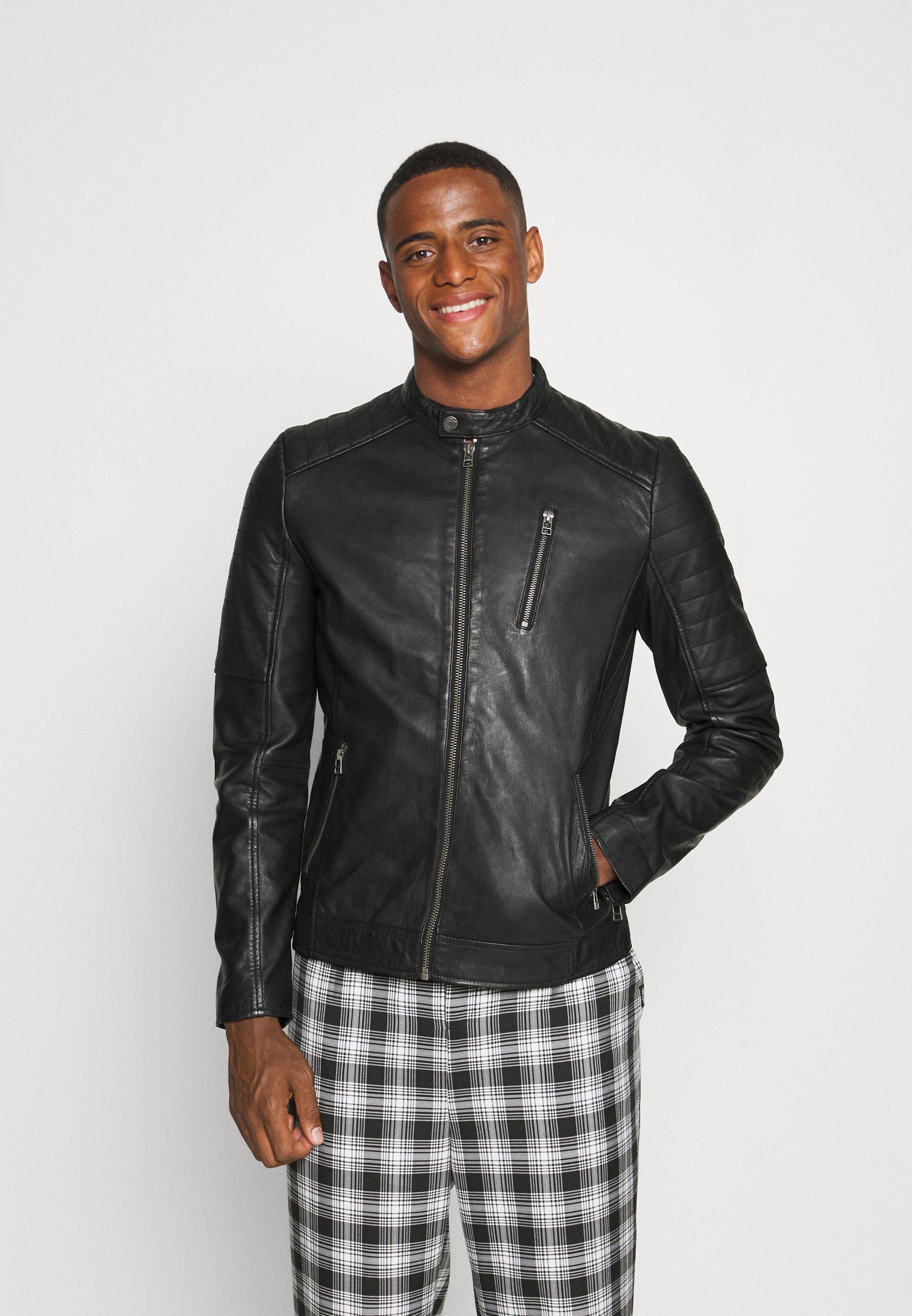 Men MITCH BIKER - Leather jacket