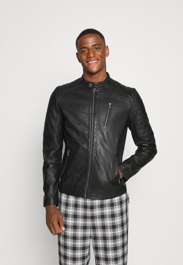 MITCH BIKER - Leather jacket - black