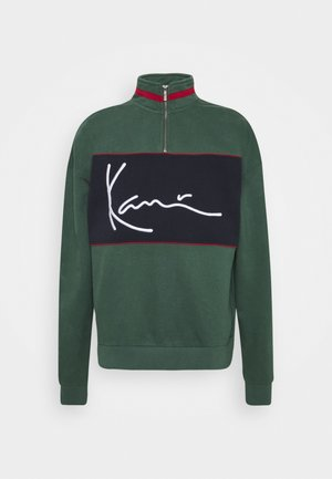 SIGNATURE BLOCK TROYER - Sweatshirt - green