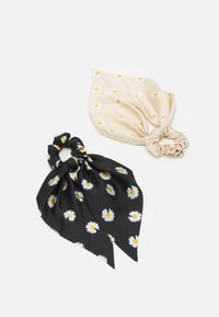 Pieces - PCJACOBINA SCRUNCHIE 2 PACK - Hair styling accessory - black/sand - 0