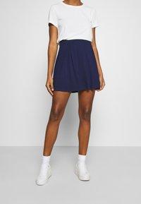 Even&Odd - A-snit nederdel/ A-formede nederdele - evening blue - 0