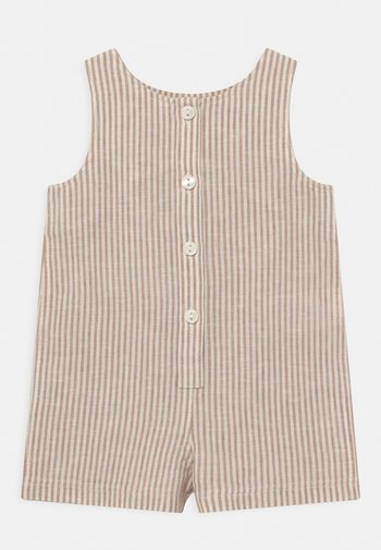UNISEX - Jumpsuit - light brown/white