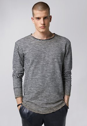 Long sleeved top - black/white/sand