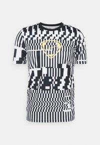 Nike Performance - DRY - T-shirts print - white/black/saturn gold - 4