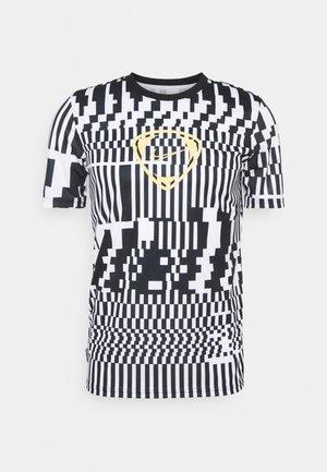 DRY - Print T-shirt - white/black/saturn gold