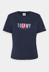 Tommy Jeans - REGULAR TIMELESS BOX TEE - T-shirt con stampa - twilight navy - 4