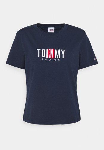 REGULAR TIMELESS BOX TEE - T-shirts med print - twilight navy