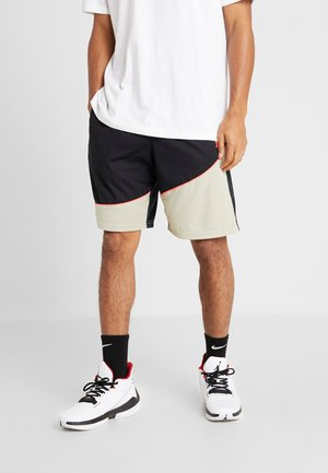 BASELINE SHORT - Sports shorts - black/range khaki/beta red