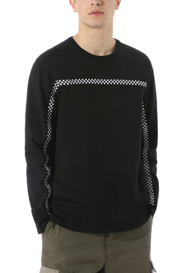 Vans - MN CHECK THROUGH LS - Long sleeved top - black