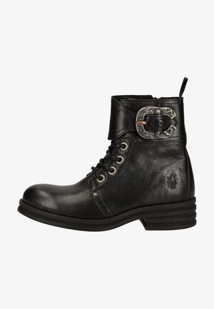 Bottines à plateau - black silver