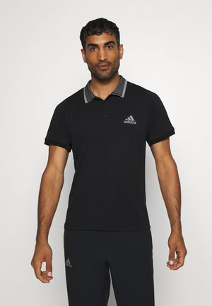 AEROREADY TENNIS SLIM SHORT SLEEVE - Funktionsshirt - black/grey heather
