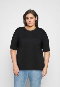 Even&Odd Curvy - Basic T-shirt - black - 2