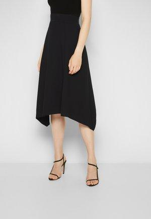 COMBO FLARE SKIRT - A-line skirt - black