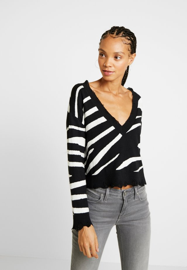 TIGER JUMPER - Sweter - black