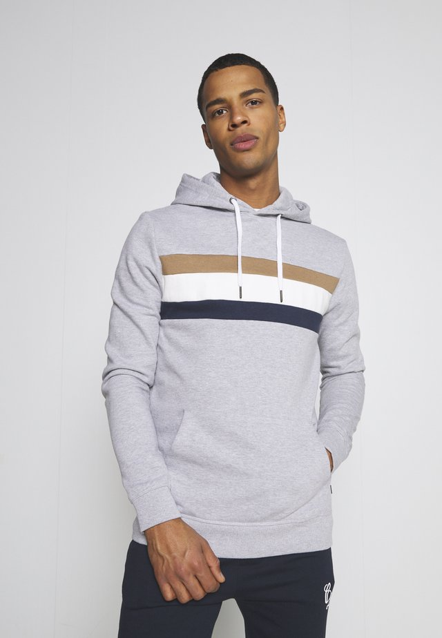 CHEST PANEL OVERHEAD HOOD - Collegepaita - grey
