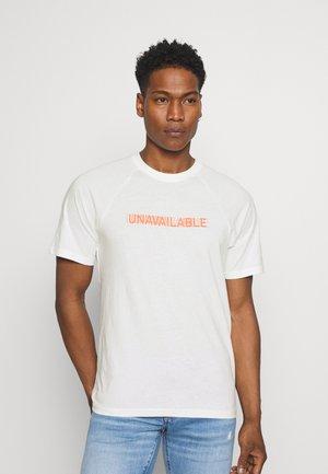 ONSPINT RAGLAN TEE - T-shirt med print - star white