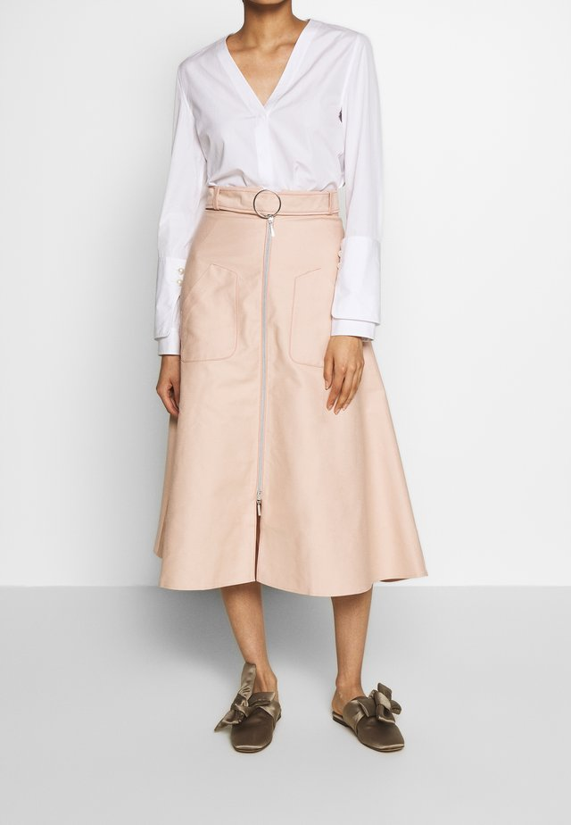 RONA - A-line skirt - nude denim