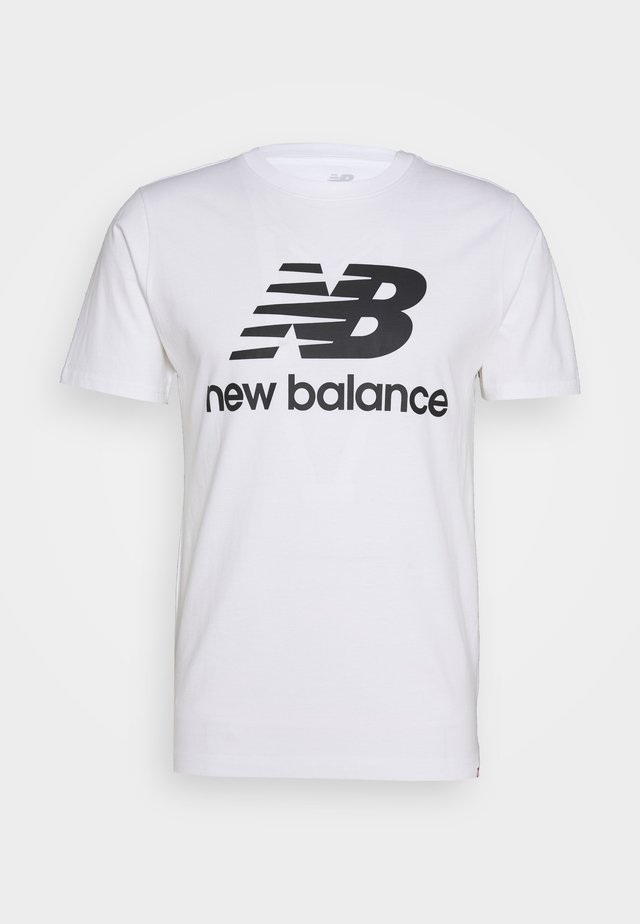 ESSENTIALS STACKED LOGO  - T-shirt print - white