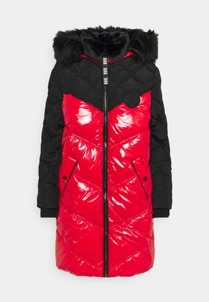 Winter coat - red/black