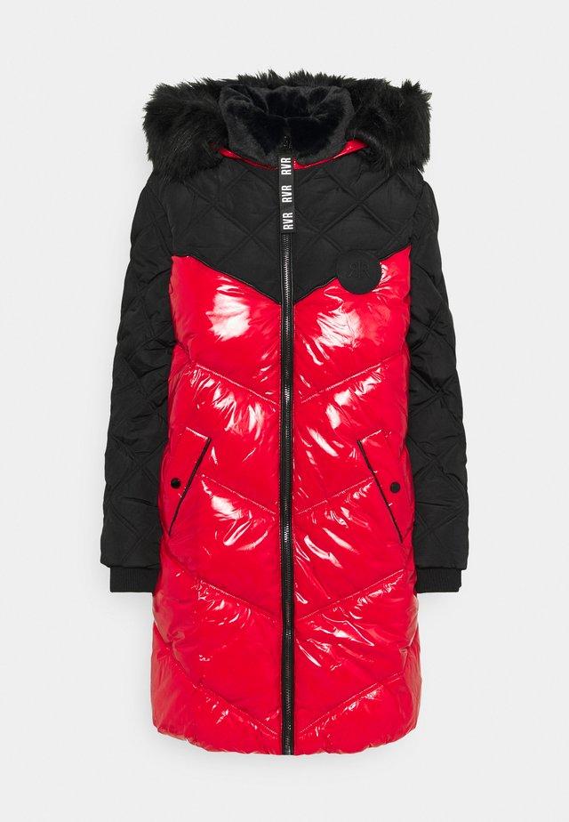 Winter coat - red/black
