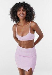 Bershka - Mini skirt - mauve - 0