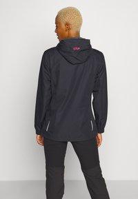 CMP - WOMAN RAIN JACKET FIX HOOD - Outdoor jacket - antracite/gloss - 2