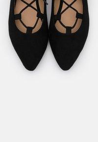 BEBO - ANYTA - Ankle strap ballet pumps - black - 5