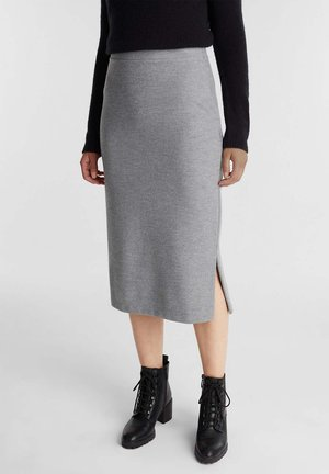 Pencil skirt - gunmetal