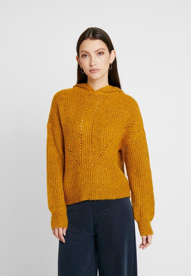 ONLHENBANE HOOD - Jersey con capucha - golden glow/melange