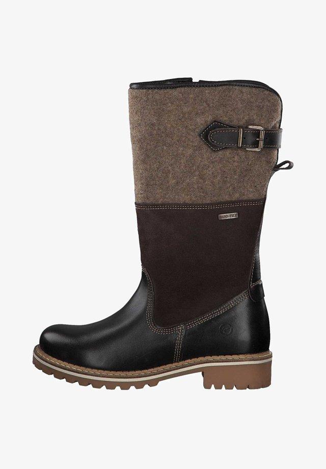 Platform boots - mocca comb