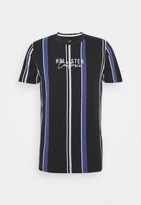 Hollister Co. - STRIPE LOGO - T-shirt con stampa - black - 0