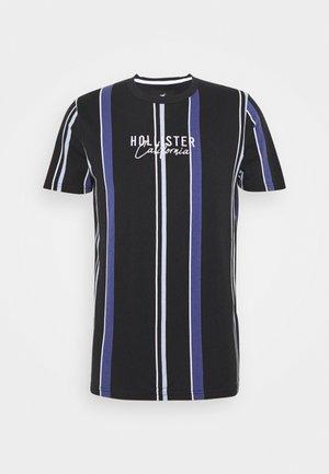 STRIPE LOGO - T-shirt con stampa - black