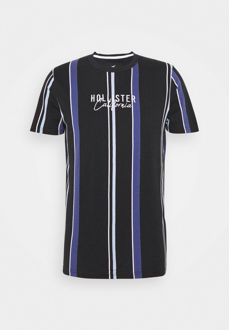 Hollister Co. - STRIPE LOGO - T-shirt con stampa - black
