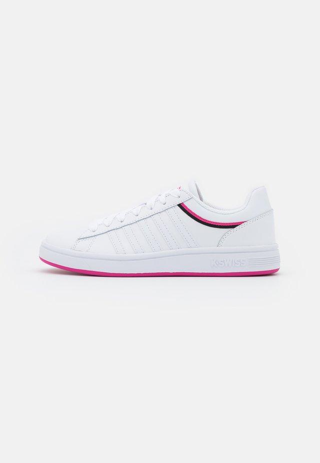 COURT WINSTON - Trainers - white/pinkyarrow/black
