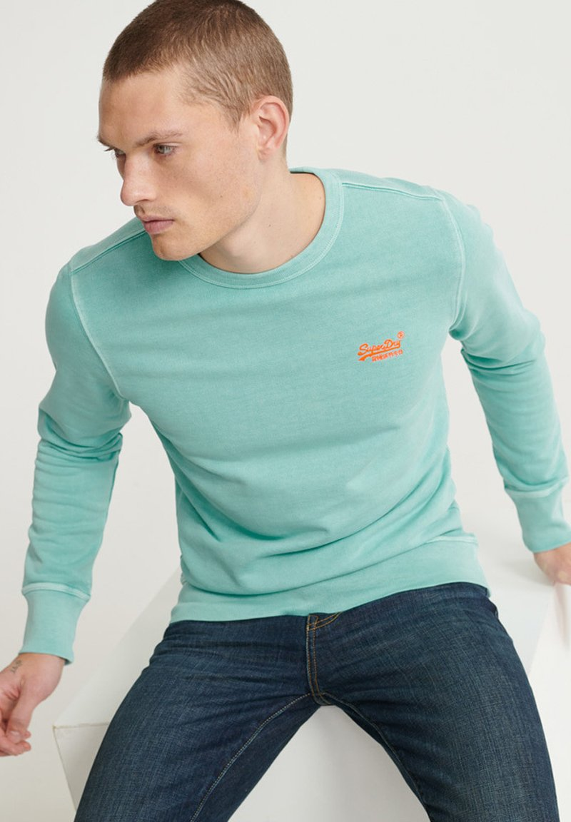 Superdry - ORANGE LABEL - Sweater - pastelline turquoise