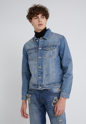 FOURTEEN DISTRESSED BUE - Denim jacket - blue denim