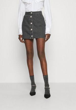 RICKA - Mini skirt - silver sconce