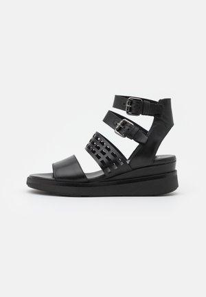 PLATIUAN - Sandalias con plataforma - nero