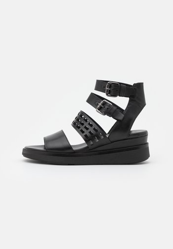 PLATIUAN - Platform sandals - nero