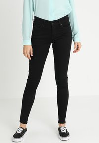 Diesel - SLANDY - Jeans Skinny Fit - black denim - 0