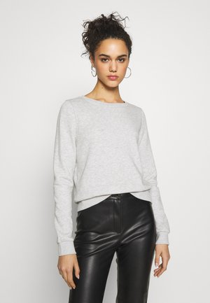 ONLWENDY ONECK - Sweatshirt - light grey melange